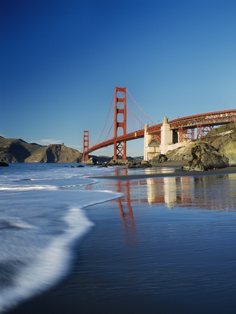 San Francisco Baker Beach seaside photo poster