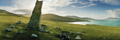 Clach Mhic Leoid (Macleod's Stone), an Ancient Standing Stone Near Scarista Photographic Print by Macduff Everton