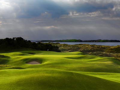 13th Hole Named Skerries at Royal Portrush Golf Club in Northern Ireland Photographic Print by Chris Hill
