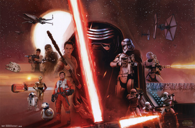 Star Wars The Force Awakens - Group Posters