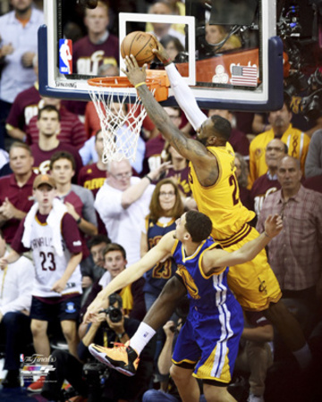 LeBron James Dunk over Klay Thompson in Game 3 of the NBA Finals Photo