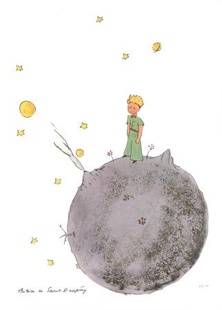 Le Petit Prince et son Asteroide Serigraph by Antoine de Saint Exupery