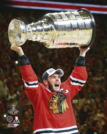 Jonathan Toews Celebrating with the Stanley Cup  2015 Photo