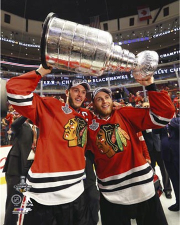 Jonathan Toews and Patrick Kane Celebrate with the Stanley Cup  2015 Photo