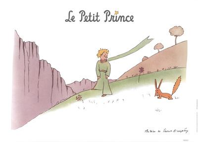 Petit Prince et son Renard Posters by Antoine de Saint Exupery