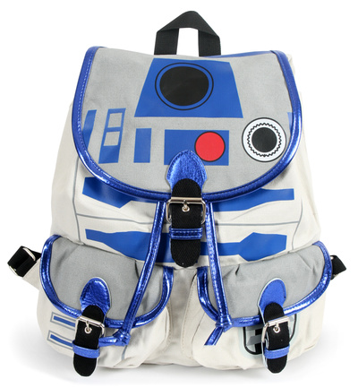 Star Wars R2D2 Knapsack bag blue and white specialty science fiction backpack bag
