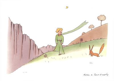 Le Petit Prince et le renard Serigraph by Antoine de Saint Exupery