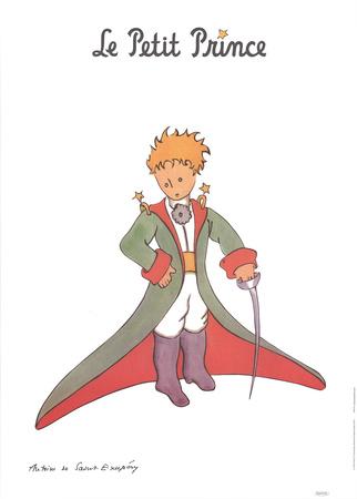 Petit Prince et la cape rouge Prints by Antoine de Saint Exupery