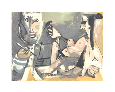The Artist and His Model Serigraph by Pablo Picasso
