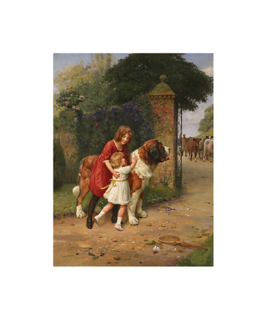 Safely Guarded Premium Giclee Print by Arthur Elsley