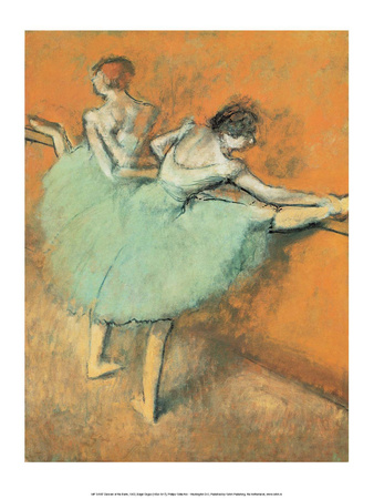 Dancers at the Barre, 1900 Prints by Edgar Degas
