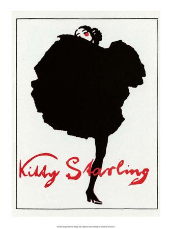 Vintage Poster Advertising Kitty Starling Art