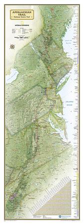 National Geographic Appalachian Trail Map Prints