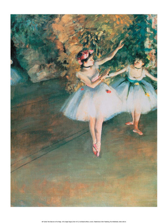 Two Dancers on the Stage, 1874 Prints by Edgar Degas