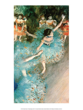 Dancer in Blue, 1884 Prints by Edgar Degas