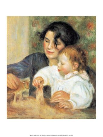 Gabrielle and Jean, 1895 Print by Pierre-Auguste Renoir