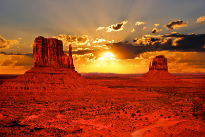Arizona Sunrise Fotografisk tryk af Jeni Foto