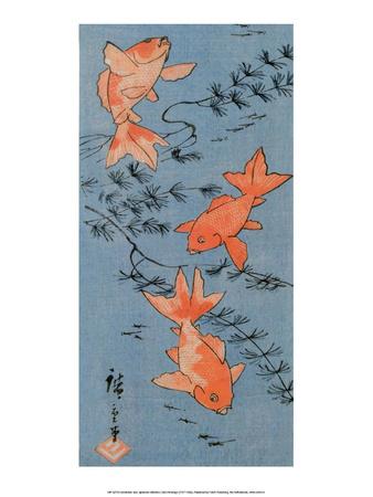 Goldfishes, 1843 Posters by Utagawa Hiroshige