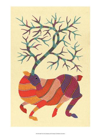 India Folk Art, Deer Prints
