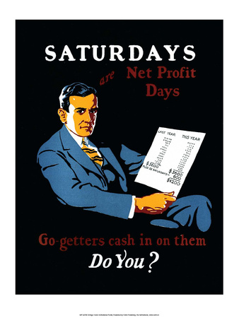 Vintage Business Saturdays - Go-getters cash in on them Prints