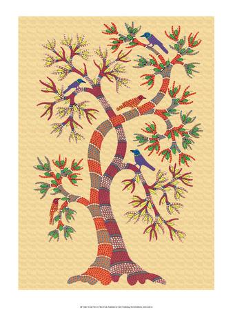India Folk Art, Tree of Life Posters