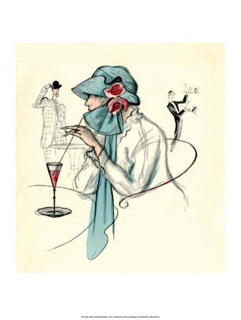 Art Deco Fashion, Café Society, 1922 Prints by George GO. Kobbe