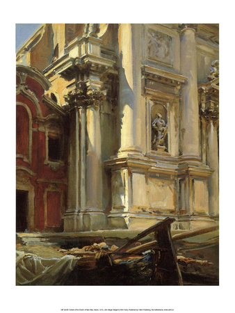 Corner of the Church of San Stae, Venice, 1913 Prints by John Singer Sargent