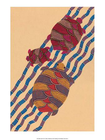India Folk Art, Turtles Print