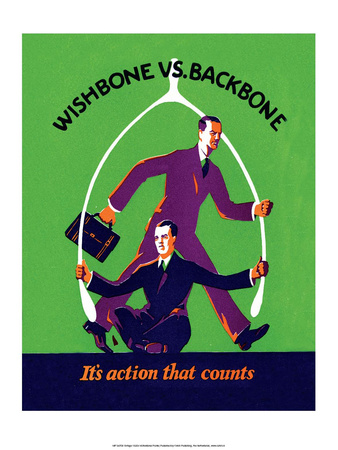 Vintage Business Wishbone vs Backbone Poster