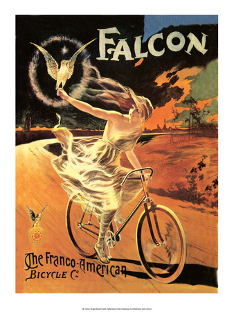Vintage Bicycle Poster, Falcon Posters