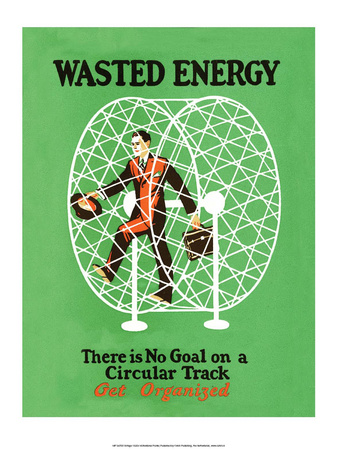 Vintage Business Wasted Energy - Get Organized Prints