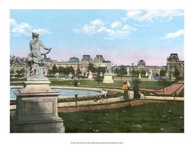Vintage Paris Postcard - Jardin de Tuileries Posters