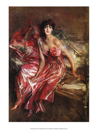 Lady in Red, 1905 Print by Giovanni Boldini