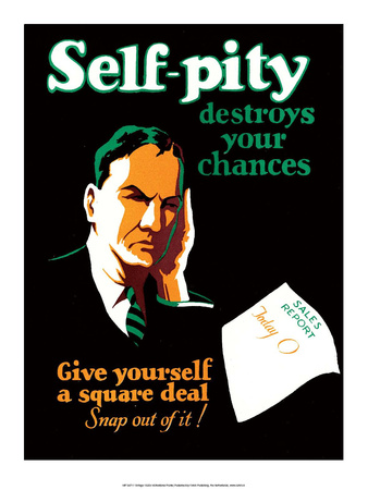 Vintage Business Self-Pity Print