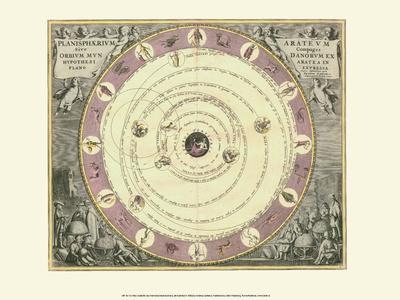 Celestial Map Art by Andreas Cellarius