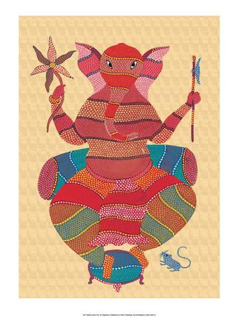 India Folk Art, Elephant Prints