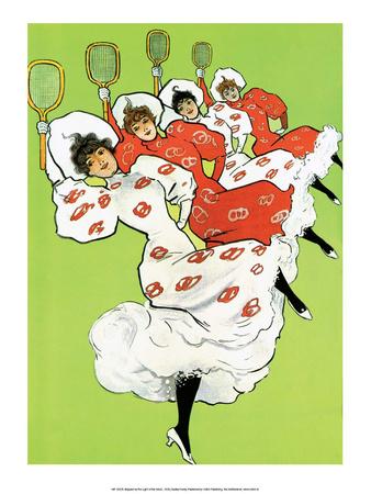 Vintage Tennis Poster, 1900 Art