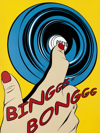 Binggg - Bonggg Giclee Print by Deborah Azzopardi