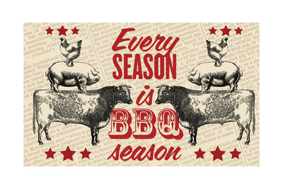 Barbecue Season Giclee Print