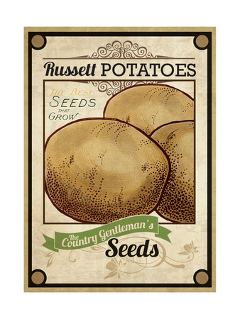 Vintage Potato Seed Packet Giclee Print