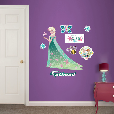 Elsa - Frozen Fever - Fathead Jr. Wall Decal