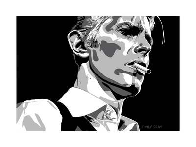 David Bowie - Thin White Duke Giclee Print by Emily Gray