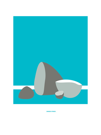Broken Stones: Paul Weller Giclee Print by Christophe Gowans