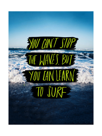 Learn to Surf Giclee Print by Leah Flores