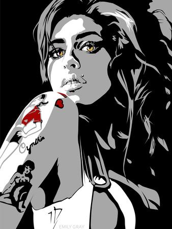 Amy Winehouse Gicléetryck av Emily Gray