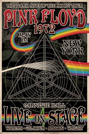Pink Floyd 1972 Carnegie Hall アートポスター
