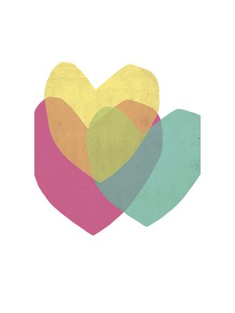Bright Hearts Giclee Print by Seventy Tree