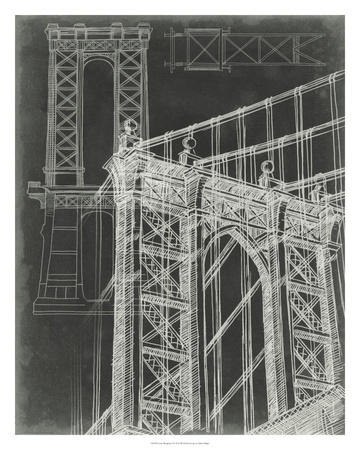 Iconic Blueprint I Giclee Print by Ethan Harper
