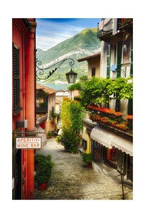 Bellagio Street Charm I Photographic Print by George Oze