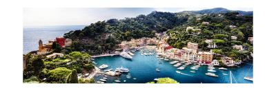 Portofino Panorama, Liguria, Italy Photographic Print by George Oze